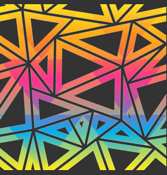 colored triangle pattern vector image