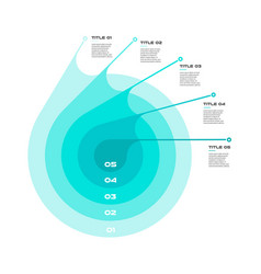 Concentric infographics step by step in a series vector