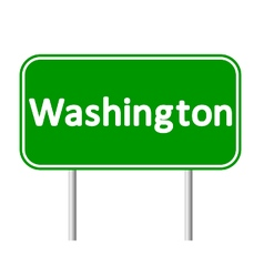 District of Columbia green road sign vector