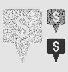 Dollar map pointer mesh wire frame model vector