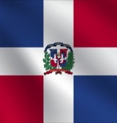 Dominican Republic flag vector