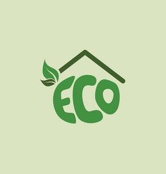 eco friendly house natural label organic product vector image