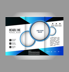 Empty tri-fold brochure print template vector