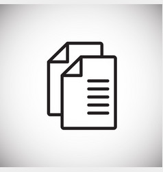 files on white background vector image