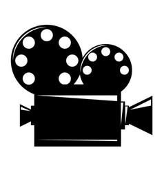 Film projector cinema camera icon vector