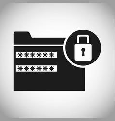 folder file password padlock secuirty vector image