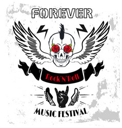 Forever rock-n-roll poster vector