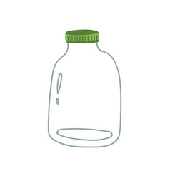 glass jar zero waste reusable object eco vector image