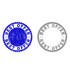 Grunge best offer scratched stamps vector