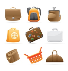 Icons for bags vector image