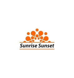 Isolated orange sunrise sunset logo summer vector