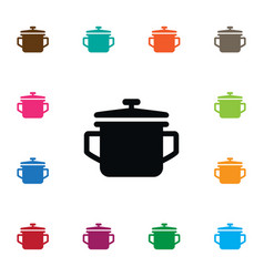 Isolated pot icon saucepan element can be vector