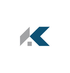 k house logo design symbol template vector image
