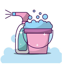 laundry cleaning related vector image