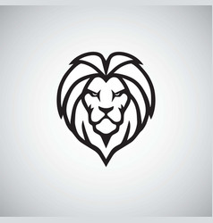 Lion head logo simple vector