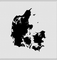 map denmark isolated black vector image