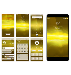 mobile app ui web interface template for vector image