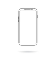 mobile phote outline vector image