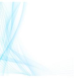 Modern abstract blue swoosh line certificate vector