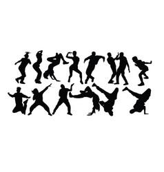 modern dancing vector image
