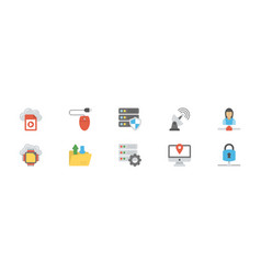 Network and cloud computing icon pack vector