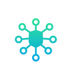 network security icon vector image