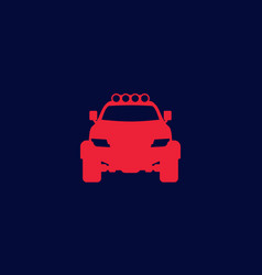 off-road 4x4 suv icon vector image
