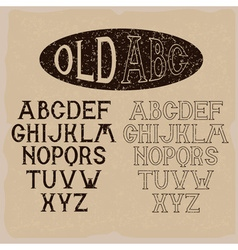 old grunge alphabet for labels vector image vector image