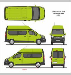 Opel vivaro passenger van l2h2 2015 vector