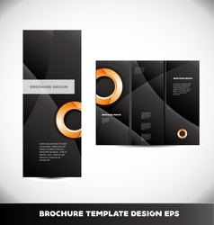 Orange circle black brochure layout vector