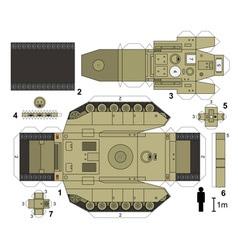 Paper model a tank vector