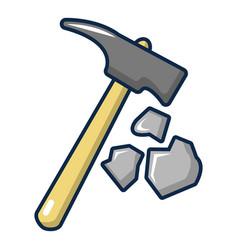 pick tool icon cartoon style vector image