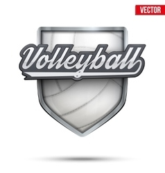 Premium symbol of Volleyball label vector image