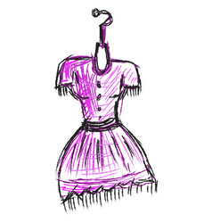 purple woman dress on white background vector image