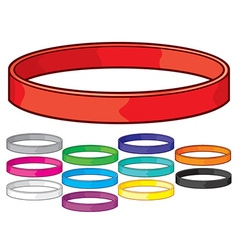 Rubber bracelet vector