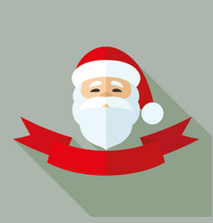santa claus and red ribbon vector image