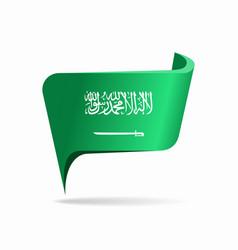 Saudi arabian flag map pointer layout vector
