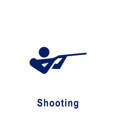 Shooting pictograph new sport icon vector