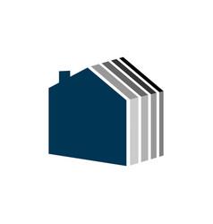 Simple home layer logo template design eps 10 vector