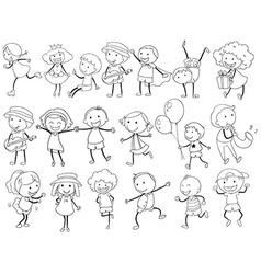 Simple kids doodle vector image