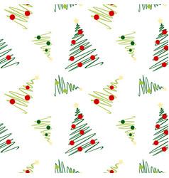 Sketch christmas tree pattern vector