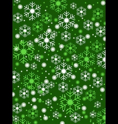snowflake green background vector image