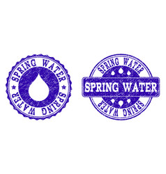 spring water grunge stamp seals vector image