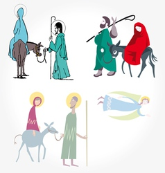 star of bethlehem nativity vector image