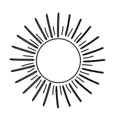 Sun burst light vector
