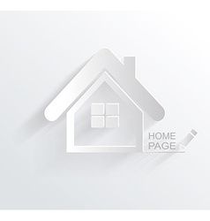 Symbol of house white paper origami home icon vector