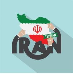 Tehran The Capital City Of Iran Typography Design vector image