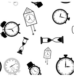 time background black flat seamless pattern vector image