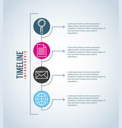 timeline infographic connection communication vector image