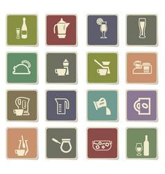 Utensils for beverages icon set vector